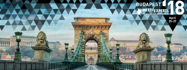 Meet the Experts Transporter Conference Budapest, 25 and 26-27 April 2018